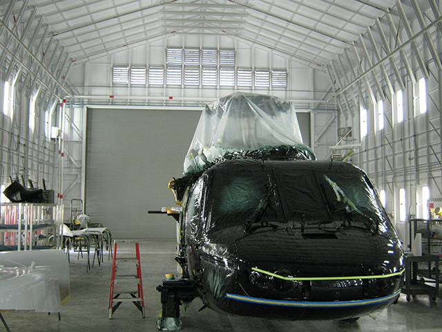 Helicopter Paint Booth 4